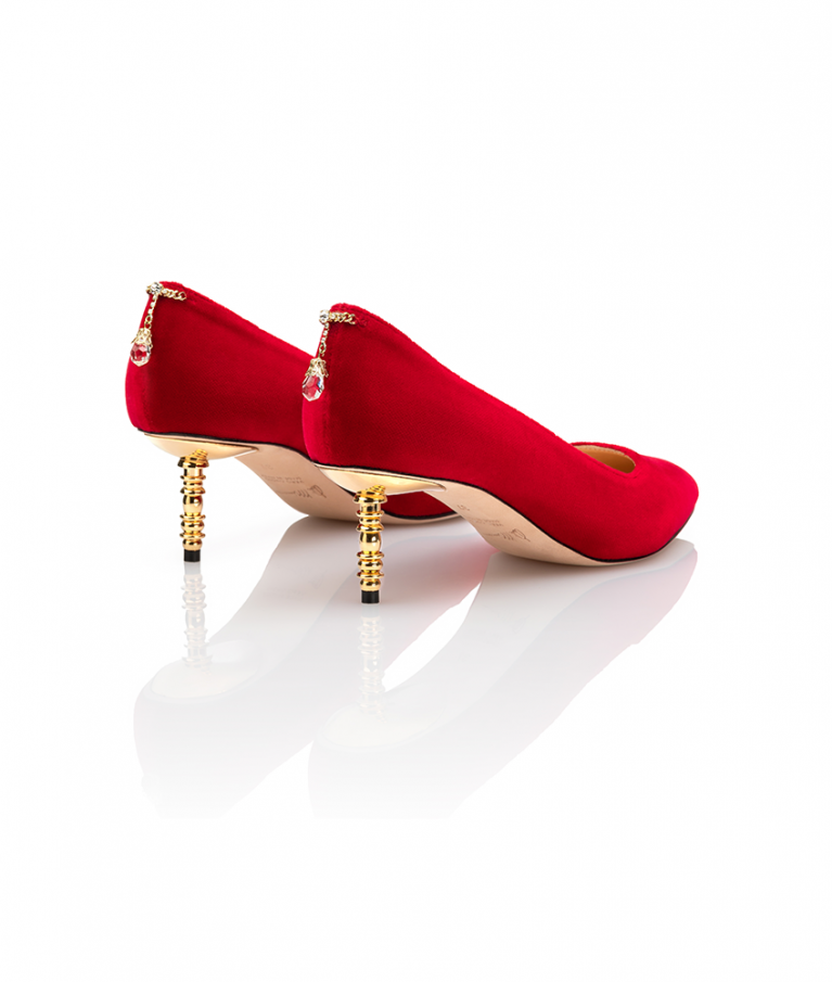 Jacqueline Pump Low Heel Red