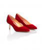 Jacqueline Pump Low Heel Red 3