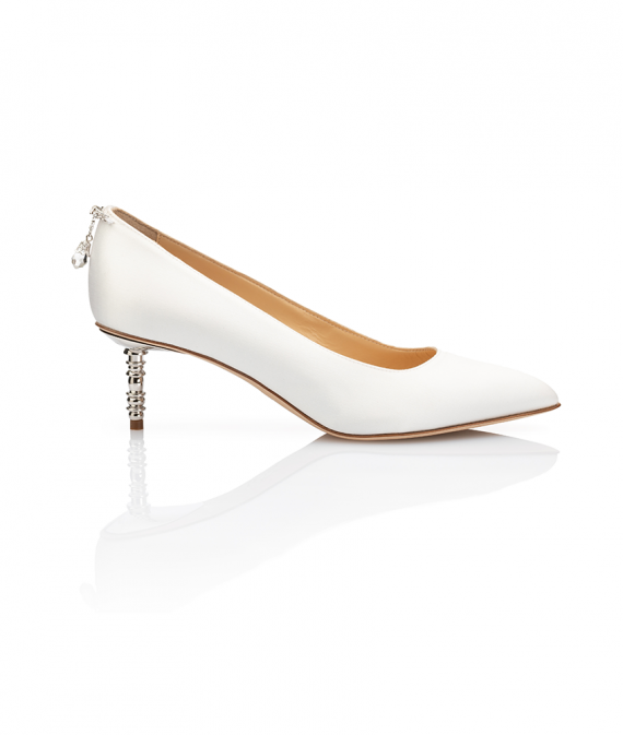 Jacqueline Bride Pump Low Heel